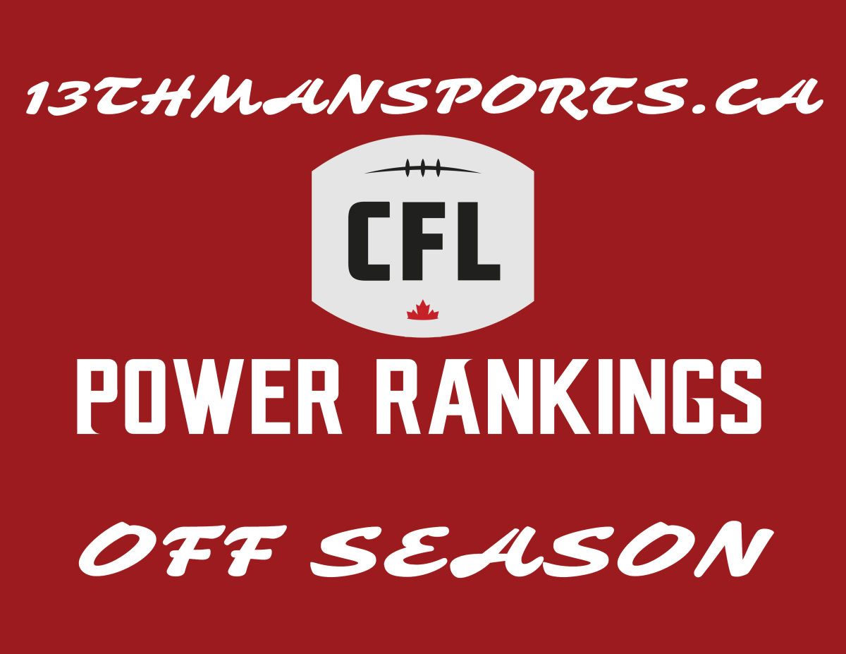 CFL Power Rankings – Offseason